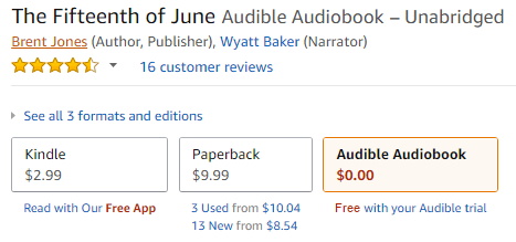 Audiobook $0.00: Free with your Audible trial