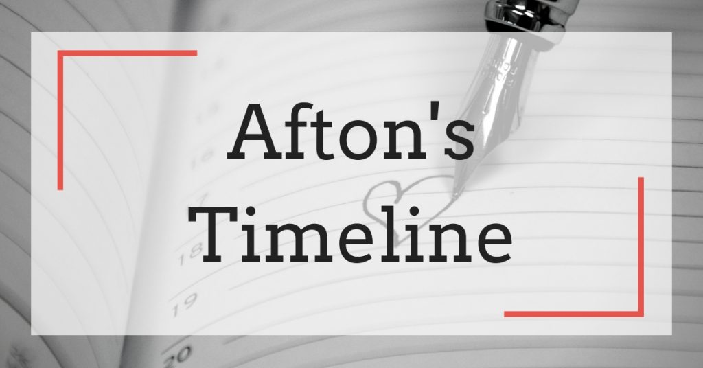 The Afton Morrison Series: A Calendar of Events