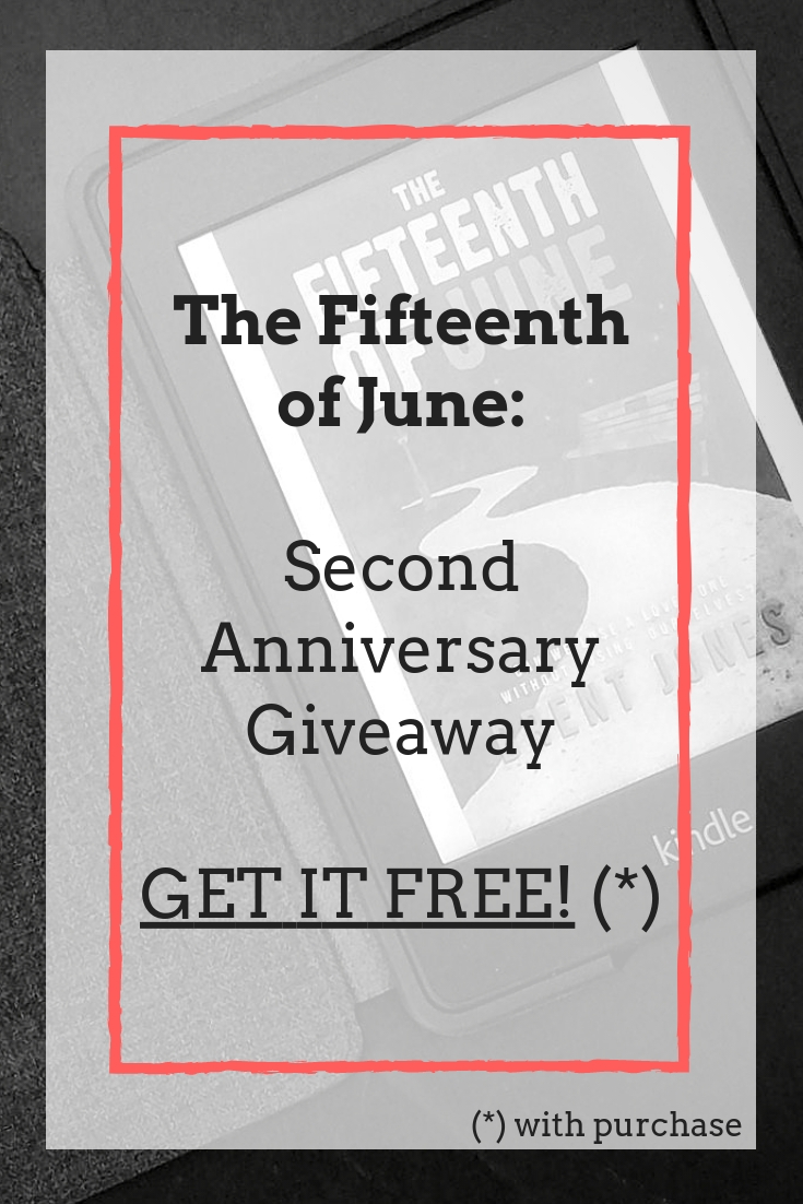 Two years ago today, The Fifteenth of June was released in print and eBook formats, with an audiobook following not longer after. To celebrate, until midnight this Sunday, February 24, receive a free eBook download of The Fifteenth of June with the purchase of any other title by author Brent Jones.